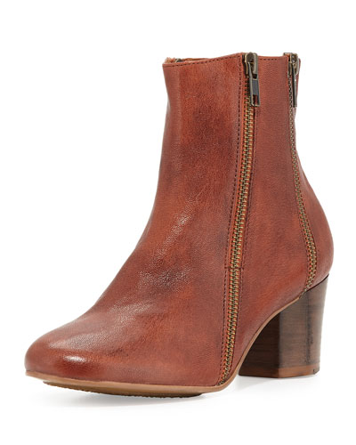 Lexington Leather Ankle Boot, Cayenne