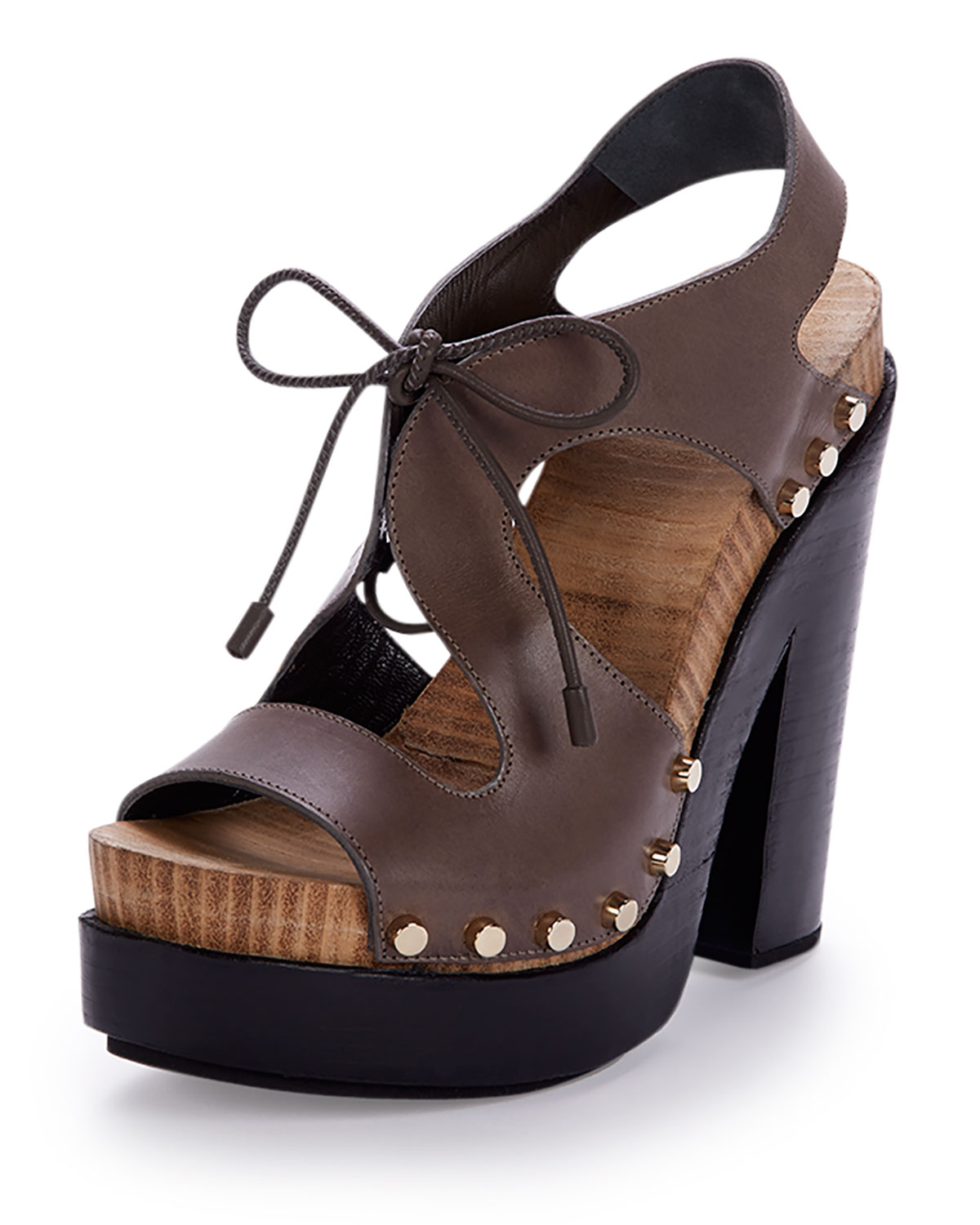 95MM LEATHER LACE UP SANDAL