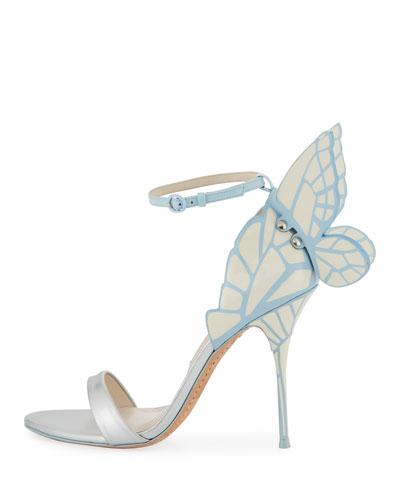 Chiara Butterfly Wing Bridal Sandal, Ice