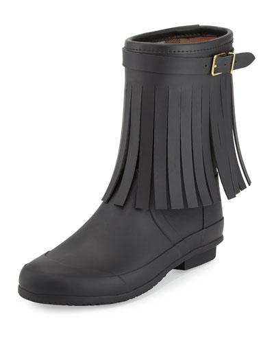 Reston Fringe Rain Boot, Black