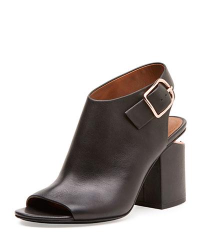 Nadia Block-Heel Sandal, Black