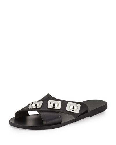 Peter Pilotto Thais Studded Crisscross Sandal, Black