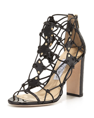 Tickle Strappy 100mm Sandal, Black