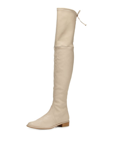 Lowland Leather Over-the-Knee Boot, Pan