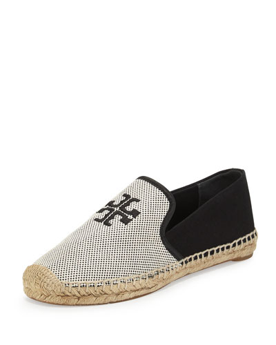 Vargas Canvas & Leather Espadrille, Ecru/Black