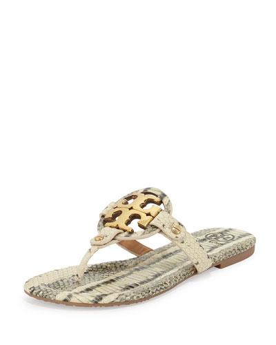 Miller 2 Snake-Print Cork Sandal, Latte/Gray