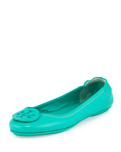 Minnie Travel Logo Ballerina Flat, Biscayne