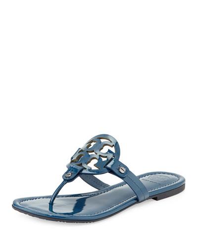 Miller Flat Patent Sandal, Province Blue