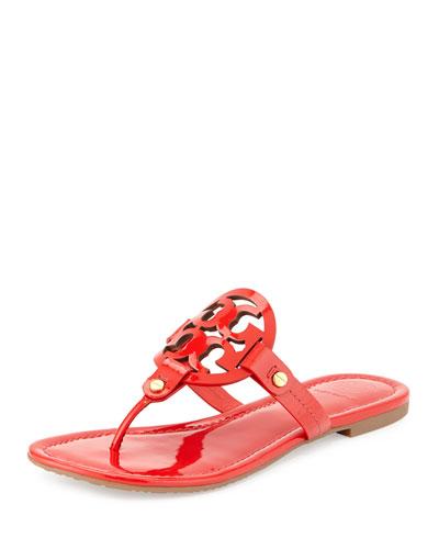 Miller Patent Logo Sandal, Vermillion
