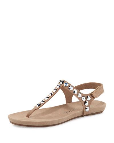 Judith Jeweled T-Strap Sandal, Sirocco