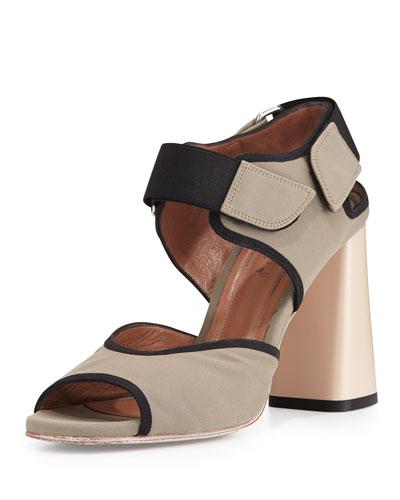 Neoprene High-Heel Sandal, Dust