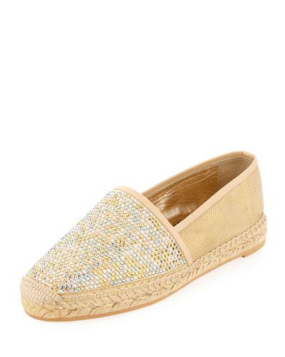 Strass Karung & Swarovski® Crystal Espadrille, Gold