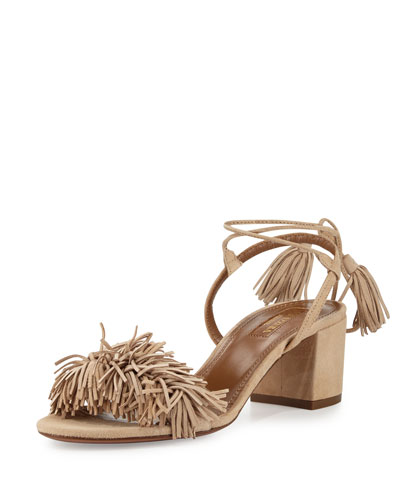 Wild Thing Fringe City Sandal, Biscotto