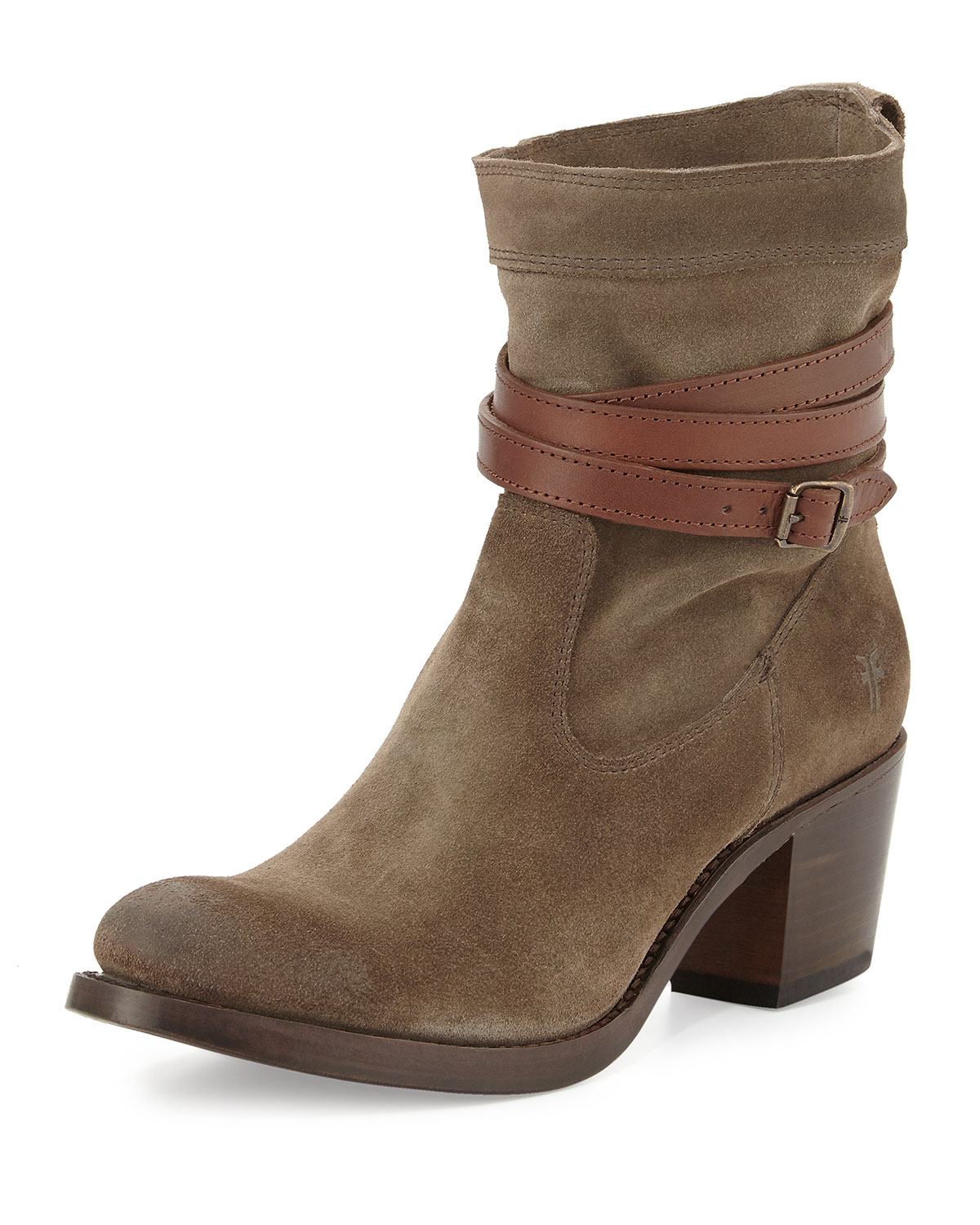 Jane Strappy Short Boot, Fatigue