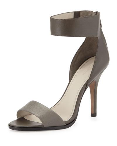 Yara Ankle-Wrap Sandal, Gray (Concrete)
