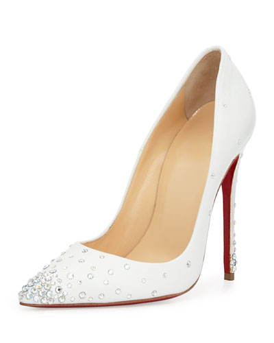 Degrastrass Leather 100mm Red Sole Pump, Moonlight