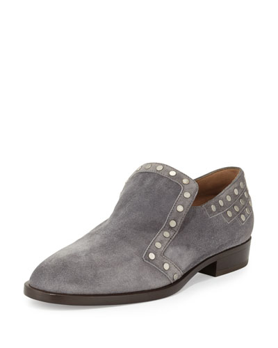 Jay Studded Suede Loafer, Gray