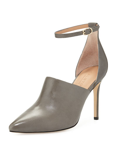 Chloe Leather d'Orsay Pump, Gunmetal
