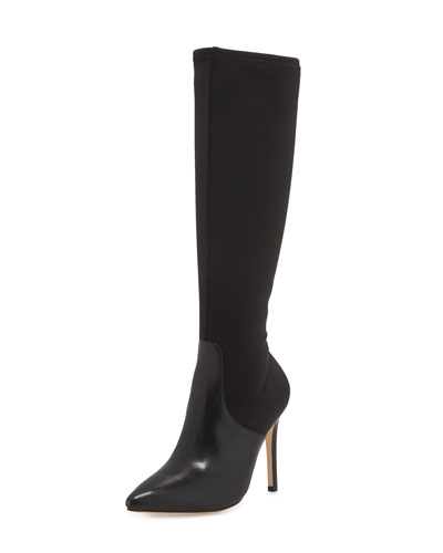Melissa Stretch Knee Boot, Black