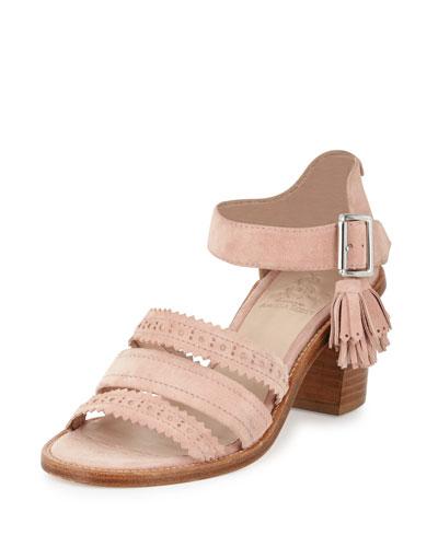 Miss. Georgia Suede Sandal, Pink