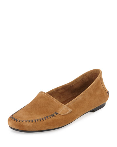 Speed Suede Moccasin Flat, Sand