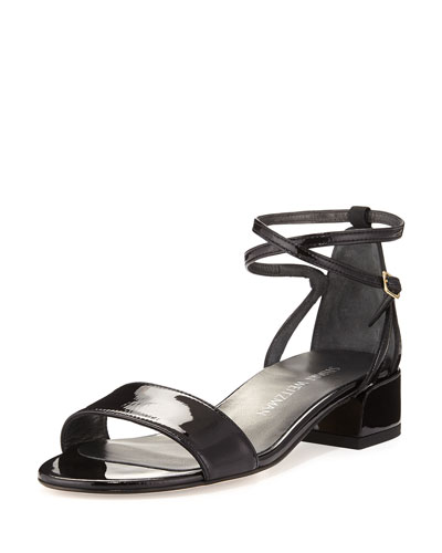 Peewee Patent City Sandal, Black