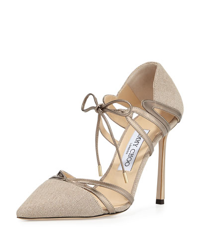 Hime 100mm Canvas d'Orsay Pump, Nude