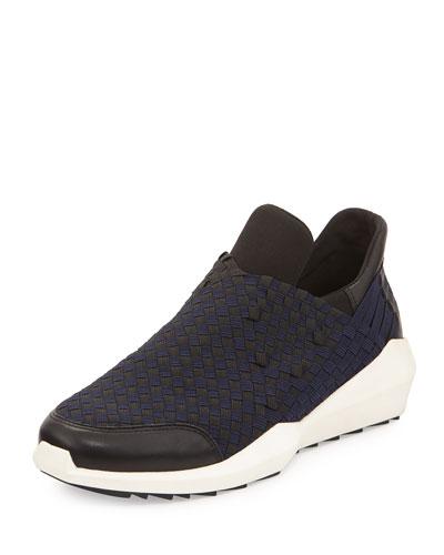 Quartz Woven Laceless Sneaker, Black/Navy