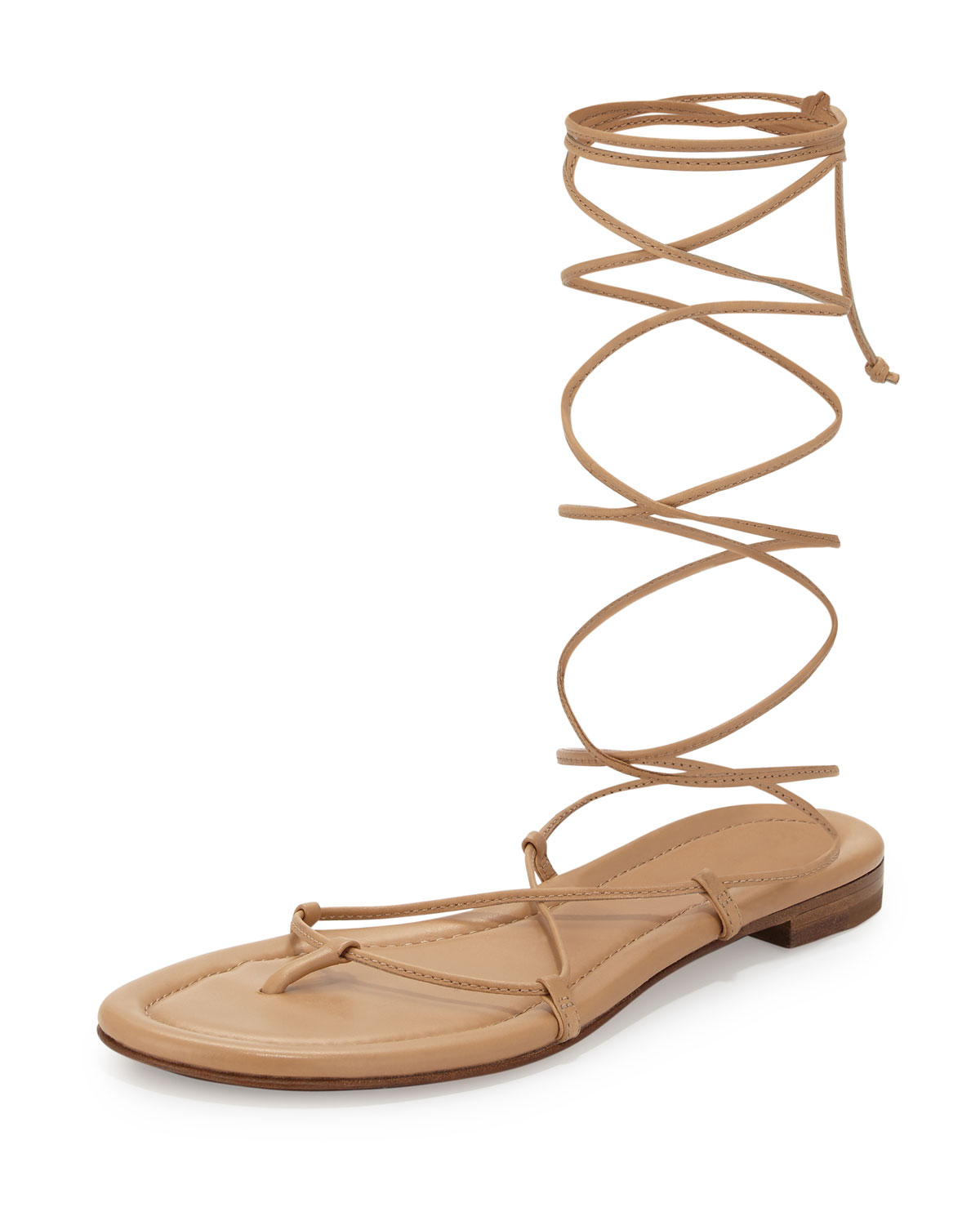 Bradshaw Lace-Up Gladiator Sandal, Toffee