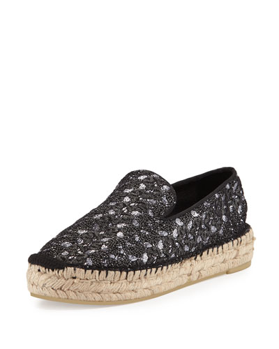 Xem Slip-On Espadrille Flat, Black Piombo