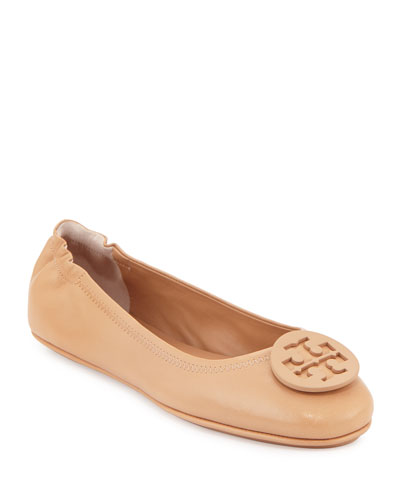 Minnie Travel Logo Ballerina Flat, Light Oak