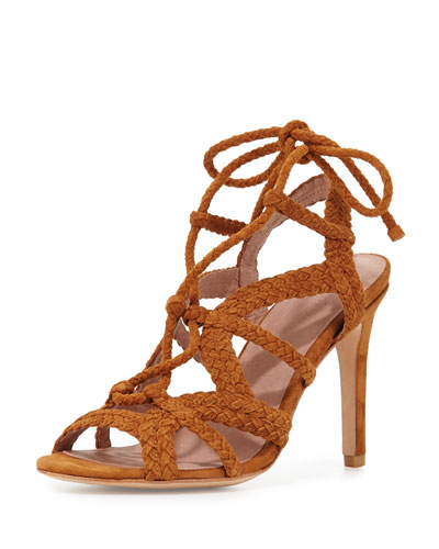 Tonni Suede Strappy Sandal, Whiskey