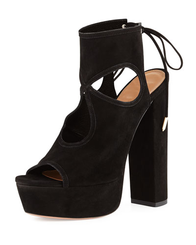 Sexy Thing Platform Sandal, Black