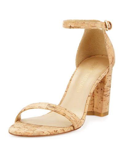Nearlynude Cork City Sandal, Natural
