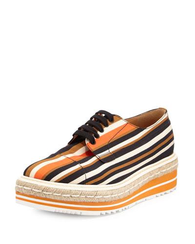 Striped Platform Creeper, Orange/Brown