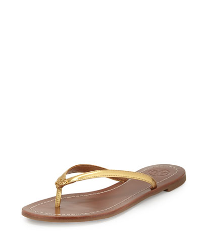 Terra Metallic Thong Sandal, Gold
