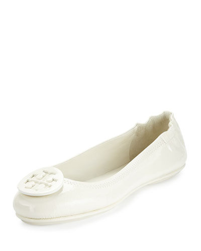 Minnie Travel Logo Ballerina Flat, Ivory