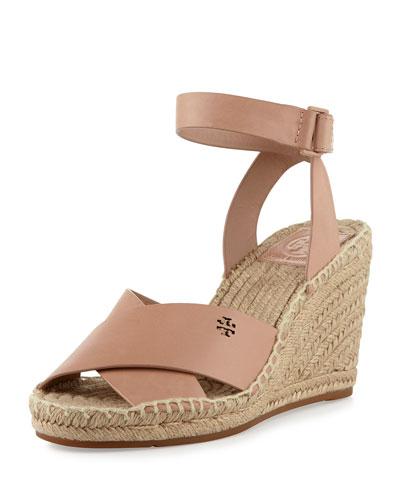 Bima Leather Wedge Espadrille Sandal, Makeup