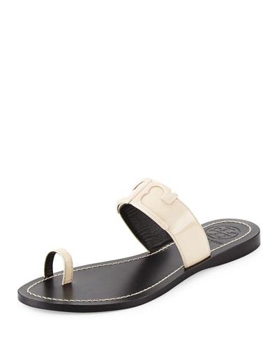 Marcia Patent Toe-Ring Sandal, Dulce de Leche