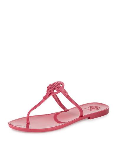 Colori Logo Jelly Flat Thong Sandal, Fiesta
