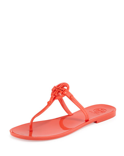 Colori Logo Jelly Thong Sandal, Poppy Red