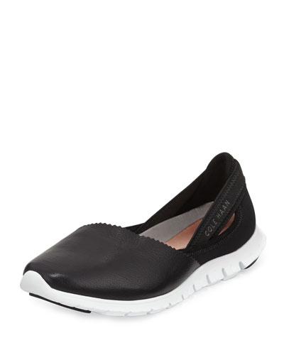 ZeroGrand™ Leather Slip-On Sneaker, Black