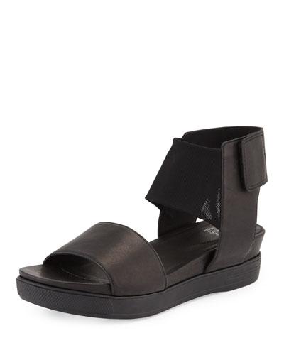 Spree Sport Leather Sandal, Black