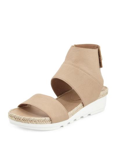 Glad Leather Espadrille Sandal, Sand