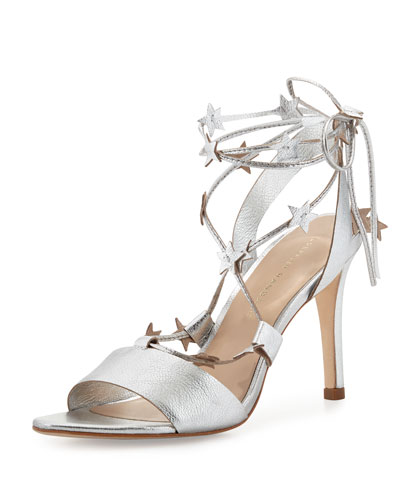 Arielle Strappy Stars Sandal, Silver