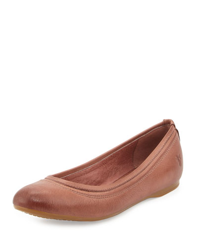Agnes Leather Ballet Flat, Dusty Rose
