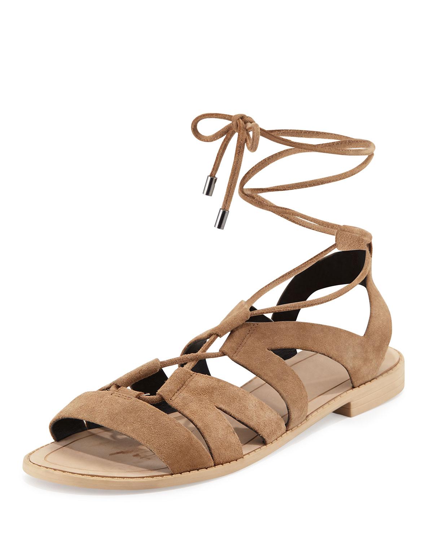 Greyson Suede Lace-Up Sandal
