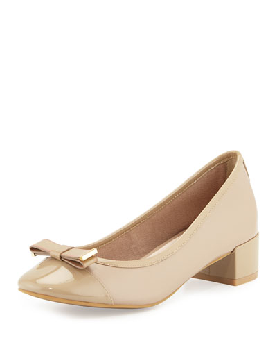 Kelsey Patent-Trim Bow Pump, Maple Sugar