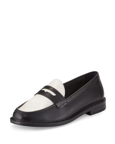 Pinch Campus Penny Loafer, Black/Ivory