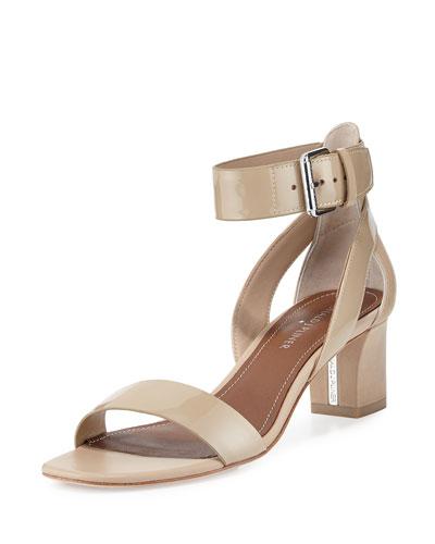 Farah Patent/Leather City Sandal, Sand